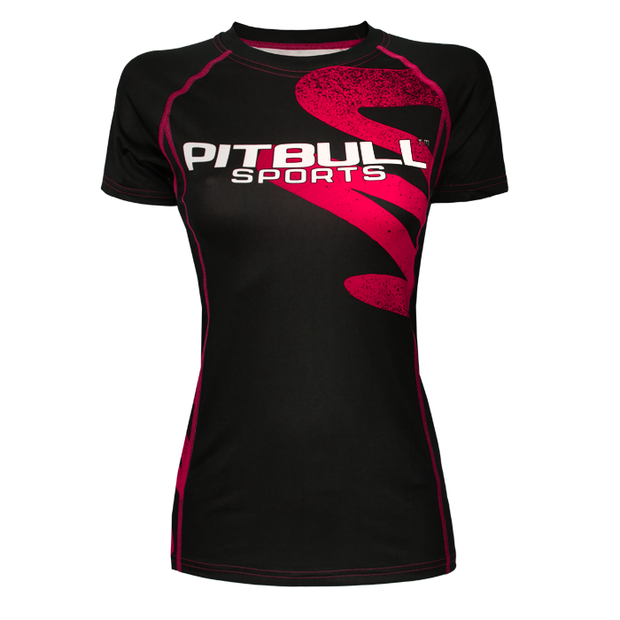 PitBull West Coast - dámský rashguard ZIGZAG růžový