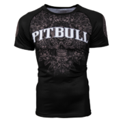 PitBull West Coast - Pánský L.S. Rashguard SKULL ROSE 16