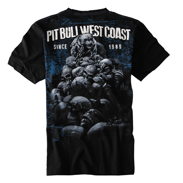 PitBull West Coast - triko SKULL DOG černé