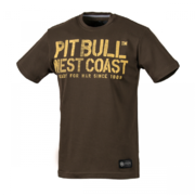 PitBull West Coast - pánské triko WAR DOG brown