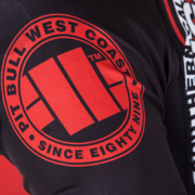 PitBull West Coast - Rashguard L.S. CIRCLE červený