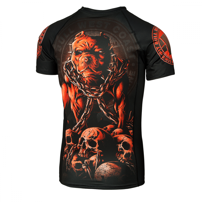PitBull West Coast - Rashguard SKULL DOG černý