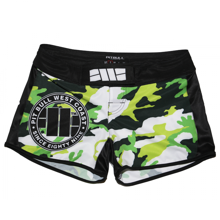 PitBull West Coast - dámské grappling shorts CAMO zelené