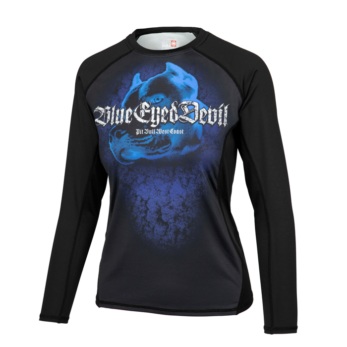 PitBull West Coast - dámský Rashguard L.S. Mesh Performance BED VI