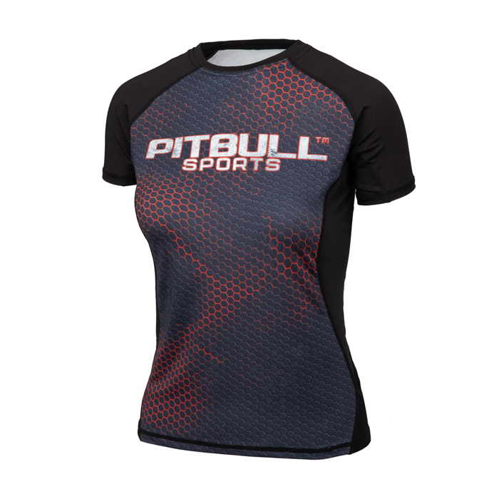 PitBull West Coast - dámský Rashguard Mesh Performance IRON LOGO