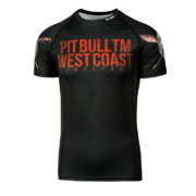 PitBull West Coast - Pánský Rashguard BUSINESS AS USUAL černý