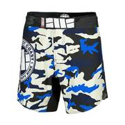 PitBull West Coast - pánské grappling shorts CAMO BLUE