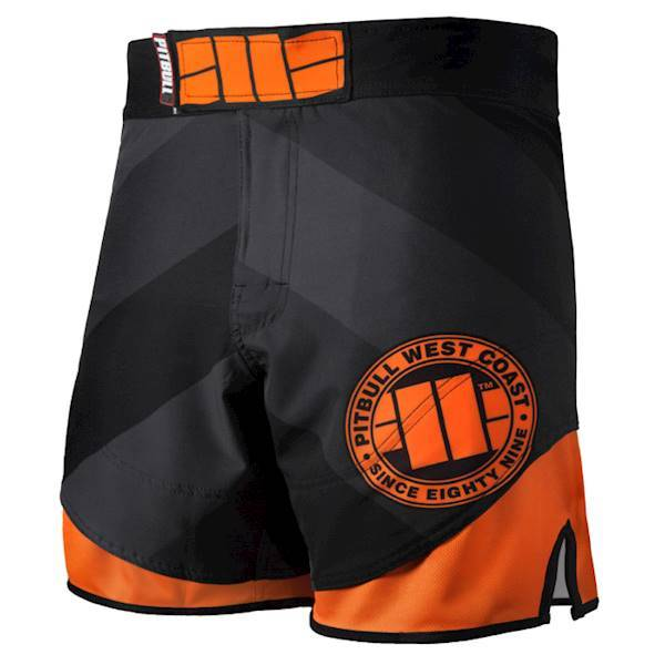 PitBull West Coast - Pánské grappling shorts MESH SPORTS černé