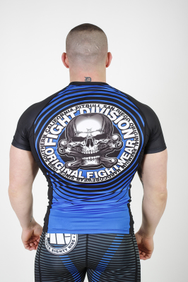 PitBull West Coast - Rashguard CIRCLE modrý