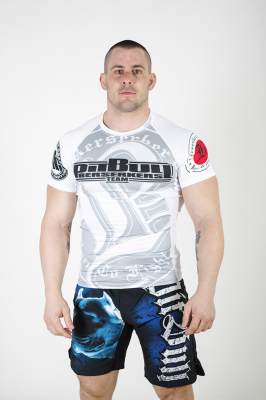 PitBull West Coast - Pánský Rashguard BT BIG B bílý