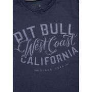 PitBull West Coast - pánské triko DENIM WASHED SHAMROCK modré