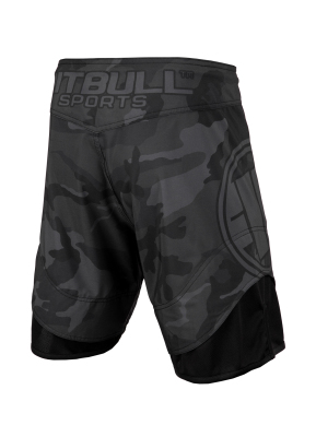 PitBull West Coast - Pánské grappling shorts ALL BLACK CAMO černé