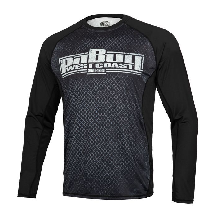 PitBull West Coast - Pánský Rashguard L.S. Mesh Performance CAGE