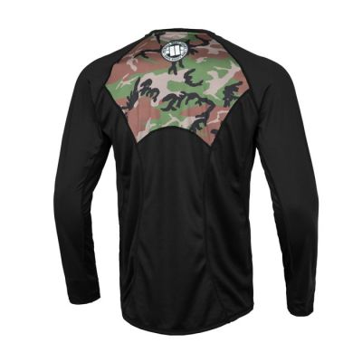 PitBull West Coast - Pánský Rashguard L.S. Mesh Performance WOODLAND BOXING