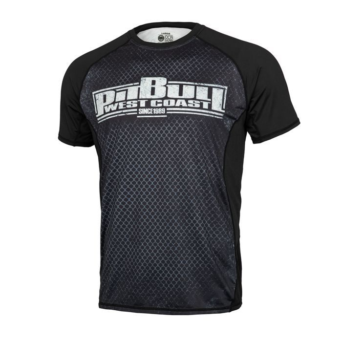 PitBull West Coast - Pánský Rashguard Mesh Performance CAGE