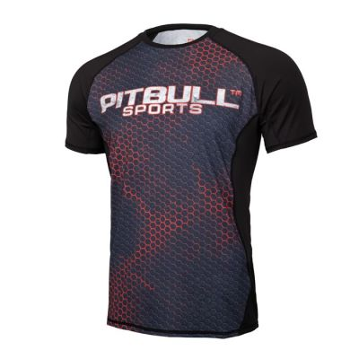 PitBull West Coast - Pánský Rashguard Mesh Performance IRON LOGO