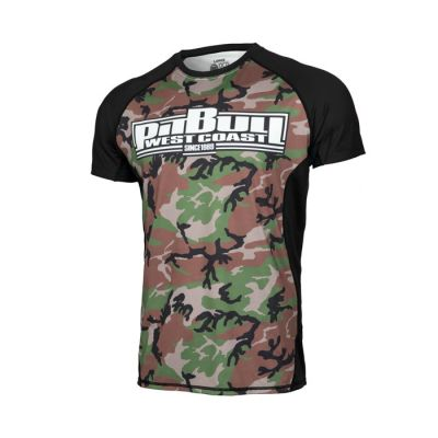 PitBull West Coast - Pánský Rashguard Mesh Performance WOODLAND BOXING