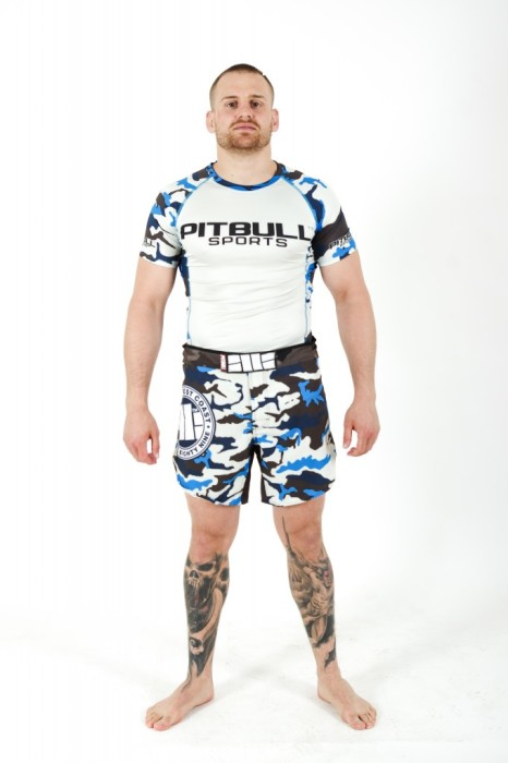 PitBull West Coast - grappling shorts CAMO BLUE