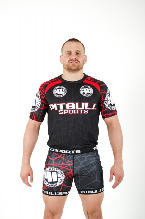 PitBull West Coast - Pánský Rashguard Mesh II. RED RAY