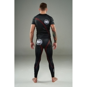 PitBull West Coast - Rashguard STRIPES červený