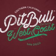 PitBull West Coast - pánské triko RETRO CAL burgundy