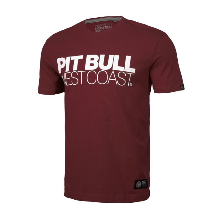 PitBull West Coast - triko TNT burgundy